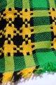 コタツ上掛 コタツカバー  緑×黄色×黒チェック柄