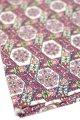 布地 パープル系花模様 102cm×89cm