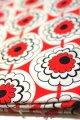 布地 赤×白×黒 花模様 90cm×255cm