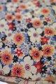 布地 生成地赤×青系花柄 65cm×110cm