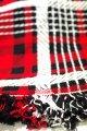 コタツ上掛 コタツカバー 赤×黒×白チェック