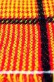 コタツ上掛 コタツカバー 赤×黄色黒ライン