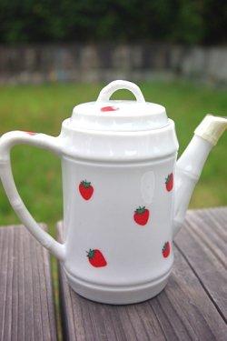 画像2: ティーポットとカップ&ソーサー イチゴ柄