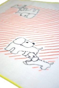 画像1: ハンカチ 犬の親子