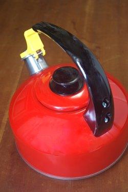 画像3: 笛吹きやかん アルミ赤色