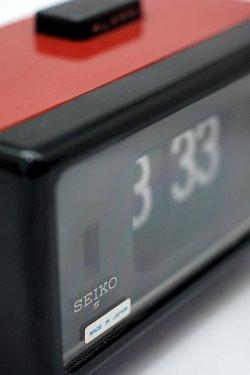画像1: SEIKO(セイコー)アラーム付きパタパタ時計 赤