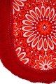 ベッドカバー 赤系花柄