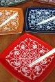 プラスチック小皿5色&フォーク5本set