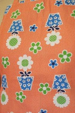 画像3: エプロン 植木鉢花柄