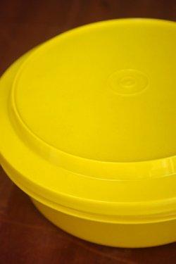 画像1: ビンテージタッパーウェア 保存容器 イエロー