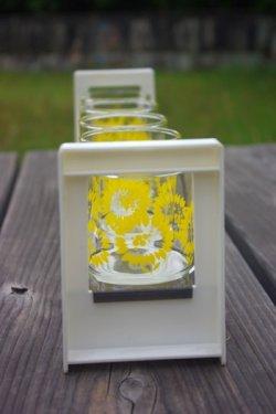 画像2: ササキガラス ダリア柄グラスとフリーラックSET