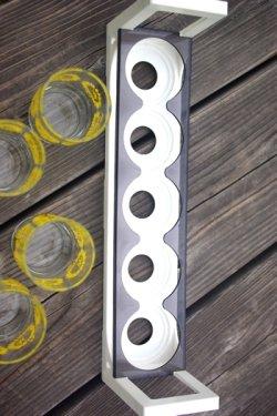 画像4: ササキガラス ダリア柄グラスとフリーラックSET