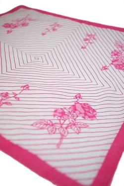 画像1: ハンカチ 薔薇