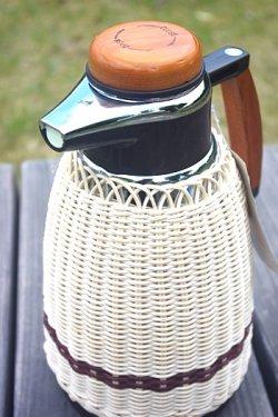 画像1: ヨットマホービン 手編湯差 魔法瓶  1ℓ